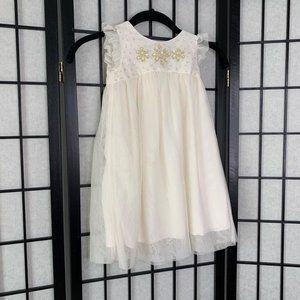 Gap Flower Tulle Dress White 4T